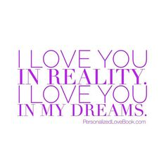 For real and in my dreams 😍💜 PersonalizedLoveBook.com