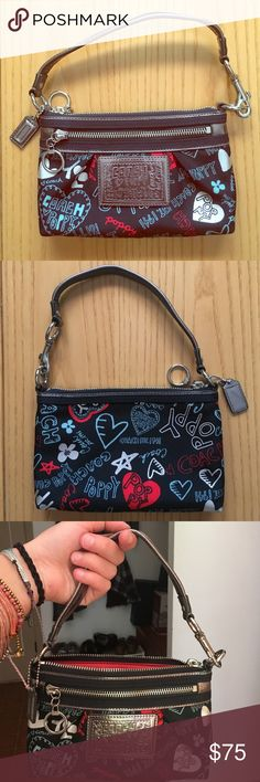 Mini Coach Poppy Purse Never used mini Coach Poppy designer purse Coach Bags Mini Bags