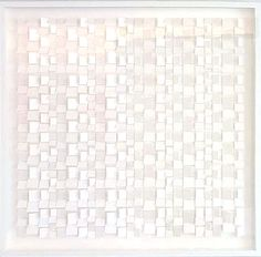 """""""White on White No. 2"""" by Gregg Welz, Drawing Paper, 32"""" x 32"""""""