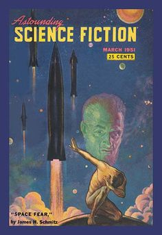 Astounding Science Fiction Space Fear by Retro Sci Fi Vintage Print Poster Science Fiction Magazines, Science Fiction Art, Pulp Fiction, Canvas Prints, Art Prints, Illustrations, Pulp Art, Retro Futurism, Sci Fi Art