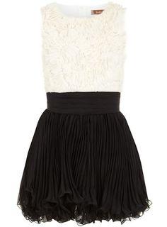 Black/cream ruffle dress