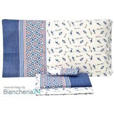 98bba768ba Lenzuola matrimoniali blu delfin Maè. Biancheria via roma,60 #Lenzuola  #Copripiumini #