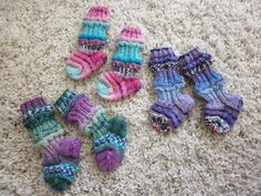 Baby socks, just have to love the colours <3
