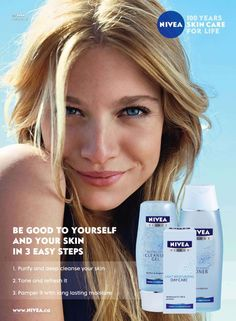 Nivea Advertising #beauty #make-up #natural #advertising
