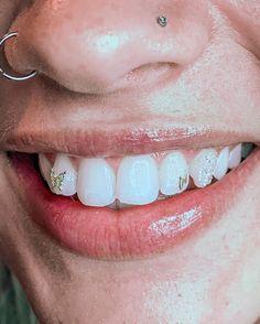 Diamond Teeth, Tooth Diamond, Tooth Gem, Grills Teeth, Grillz, Butterfly Jewelry, Lightning Bolt, Ear Piercings, Bling
