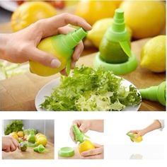 2 Sets Lot Creative Juice Juicer Lemon Spray Mist Orange Squeezer Fruit Gadge Sprayer Kitchen #Affiliate