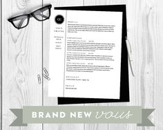 Resume Template The Classic Design Instant by BrandNewVous, $15.00