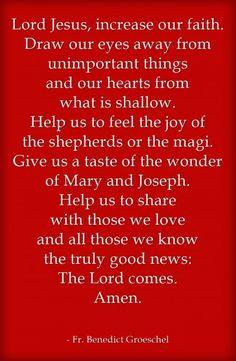 Father Benedict Groeschel - A Christmas Prayer - Eileen33 | Awestruck.tv