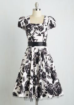 Definitive Dance Dress. You boast fierce competition at the ballroom dance finals with the perfect partner, an arsenal of moves, and this feminine floral midi! #multi #modcloth