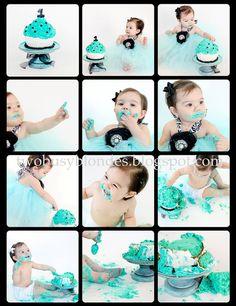 Cake smash-cute idea of having a matching dress and diaper pics