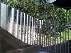 Modern wrought iron fence