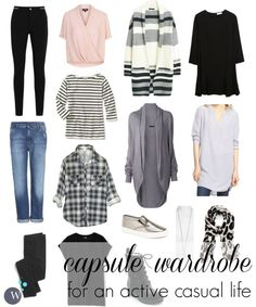 Capsule Wardrobe for active casual lifestyle or SAHM