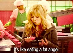 """Sam Puckett on the subject of Canadian Fat Cakes """"Mama knows her fat cakes"""" Girl Meets World, Boy Meets, Movies Showing, Movies And Tv Shows, Sam E Cat, Icarly And Victorious, The Thundermans, Drake And Josh, Nickelodeon Shows"""