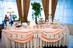 NIGERIAN-FUSION-WEDDING-BY-JULIE-FOSKETT INSPIRATION featured on http://weddingnouveau.com  I love this dersert table, it would be great for our reception buffet