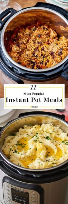 Recipes To Make in Your Instant Pot 50 EASY instant pot recipes. Great quick weeknight dinners and meals ideas here because they're done in a flash! Pressure cooking and slow cooker / crock pot recipes. Something for everyone with recipes for affordabl Multi Cooker Recipes, Slow Cooker Recipes, Grill Recipes, Pressure Cooking Recipes, Pressure Cooker Recipes Vegetarian, Healthy Vegetarian Dinner Recipes, Vegetarian Cooking, Instant Pot Dinner Recipes, Instant Recipes