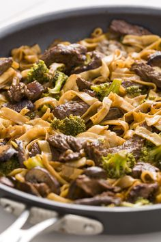 People Are Losing Their Minds Over These Beef & Broccoli Noodlescountryliving/ Great dish. It did call for 16 oz. of noodles; waaaaaaay too much. I used less than 1/4 of 14 oz and still had too much. Too many noodles will soak up all that good sauce. I sliced and marinated the meat in Italian dressing the night before. Then added all of that to the onions and everything else they called for. Double the sauce. I used thinly sliced boneless beef ribs, let it cook low and slow. Ah. mazing.