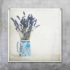 Lavender in Blue and White Jug against by EyeshootPhotography, £23.10