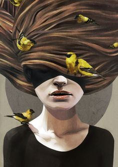 Ruben Ireland Girl with Finches Gicleé Fine Art Print - x Art And Illustration, Art Visionnaire, A Course In Miracles, Wow Art, Visionary Art, Fine Art, Belle Photo, Amazing Art, Awesome
