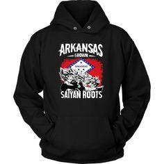 Super Saiyan Unisex Hoodie T shirt - FOR ARKANSAS FANS - TL00167HO