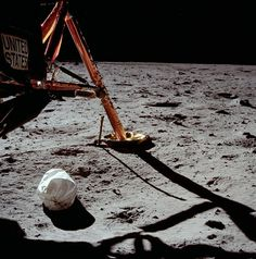 Apollo 11 Lunar Mission: First Photo taken by a man on the moon.
