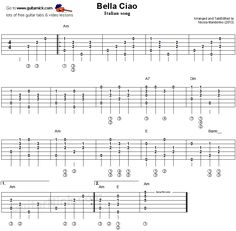 Bella Ciao - fingerstyle guitar tab