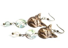 Spirit Fox Earrings Woodland Earrings Animal by MusingTreeStudios, $18.99