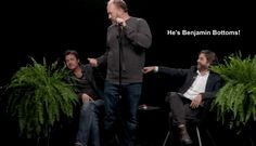 Brad Pitt, Louis C. on 'Between Two Ferns' with Zach Galifianakis Between Two Ferns, Zach Galifianakis, Louis Ck, Social Media Content, Brad Pitt, I Laughed, Death, Lol, Humor