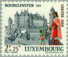 Sello: Castle Bourglinster (Luxemburgo) (Castles) Mi:LU 800,Yt:LU 750