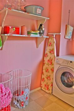 pink laundry room inspiration