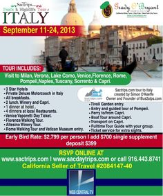 Tour of Italy Flyer