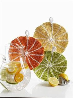 Citrus Dishcloths – Free Knitting Pattern