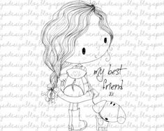 Little Bookworm by alldressedupstamps on Etsy