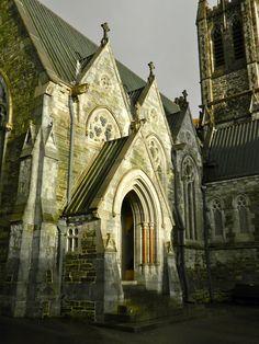 "Gothic Church at Kylemore Abbey, Connemara, Western Ireland. Connemara is high on my ""have to go"" list."