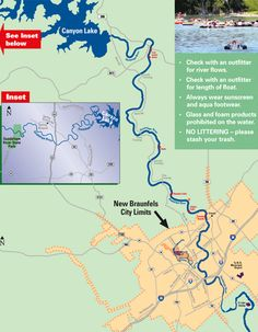Guadalupe River Tubing Float Map For Tube Haus Short