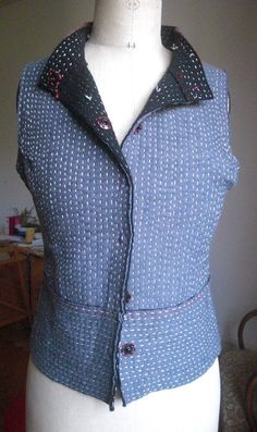 Alabama Chanin inspired quilted vest from sweaters