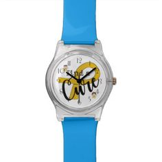 COPD Angels Find A Cure Wrist Watch  $47.95  by Butterflysarebloomin  - cyo customize personalize unique diy