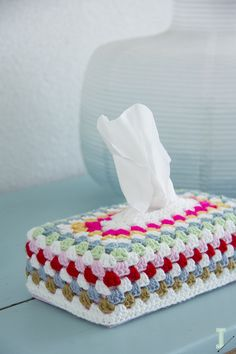 Crochet tissue box cover                                                                                                                                                     More