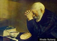 """The artist who hand-colored """"Grace,"""" a photo showing a white-bearded man bowed in prayer before a simple meal, has died at age 95."""