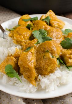 Slimming Eats Low Syn Best Ever Chicken Korma - gluten free, Slimming World and Weight Watchers friendly Slimming World Korma, Slimming World Chicken Korma, Indian Food Recipes, Gourmet Recipes, Cooking Recipes, Ethnic Recipes, Gourmet Foods, Healthy Snacks, Healthy Recipes