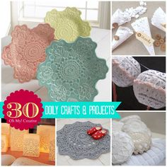 30 Doily Craft Projects - OhMy-Creative.com