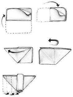 Origami Fold for a Flat Cloth Diaper