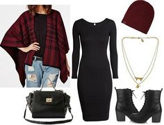 How to Add the Brothers Grimm to Your Wardrobe  --  Little Red Riding Hood outfit: Cardigan – MissGuided, Dress – H&M, Beanie – PacSun, Necklace – Max & Chloe, Shoes – Forever21, Bag – Charlotte Russe.
