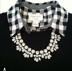 Gingham + necklace