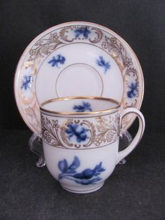 Turkish Coffee Cup Porcelain Empire Blue (Set of 6) Online Turkish Shopping Center