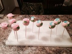 Mother's Day flower cake pops made by me, SweetEms Cakery.