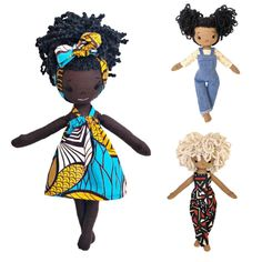 Handmade keepsake Black dolls from Harper Iman | Baby Shower Gift Guide