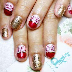 Tweed x gold!  #nails #nailsg #nailart #nailmax #nailwow #nailporn #nailswag #nailmania #nailqueen #nailsalon #nailtrend #nailaddict #naildesign #nailstagram #nailsingapore #igsg #igers #igdaily #instapic #instadiary #instanails #dollhousesg #dollhousenails #manicure #gel #gelish #gelnails #cny