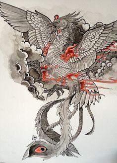 Japanese phoenix tattoo                                                                                                                                                     Plus