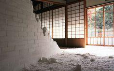 Crumbling Staircase Made of Salt by Motoi Yamamoto