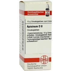 APISINUM D 8 Globuli:   Packungsinhalt: 10 g Globuli PZN: 07159258 Hersteller: DHU-Arzneimittel GmbH & Co. KG Preis: 5,50 EUR inkl. 19 %…
